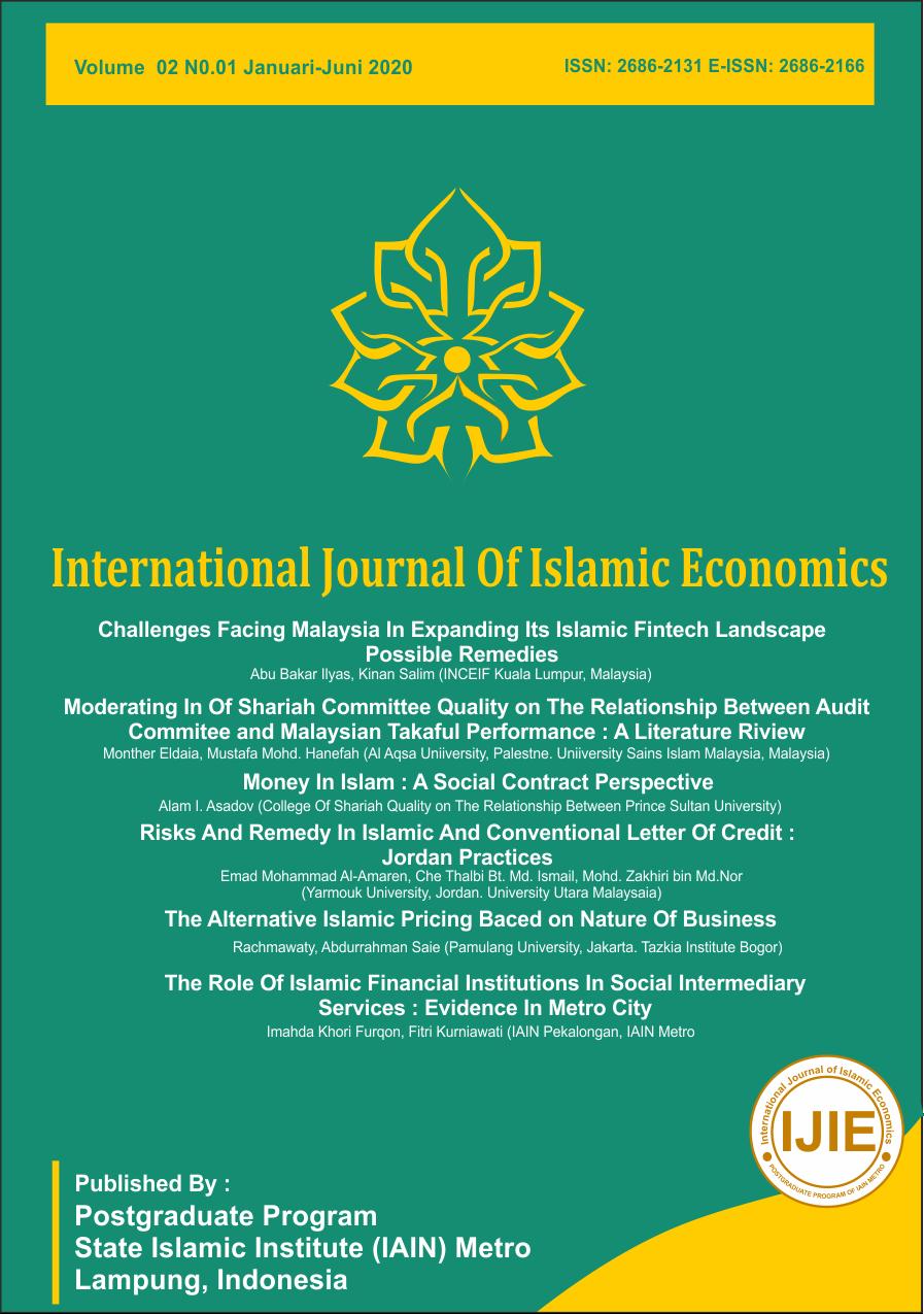 International Journal of Islamic Economics